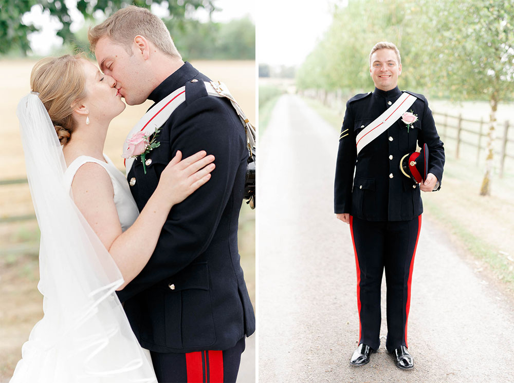 elegant military cotswolds barn wedding photography