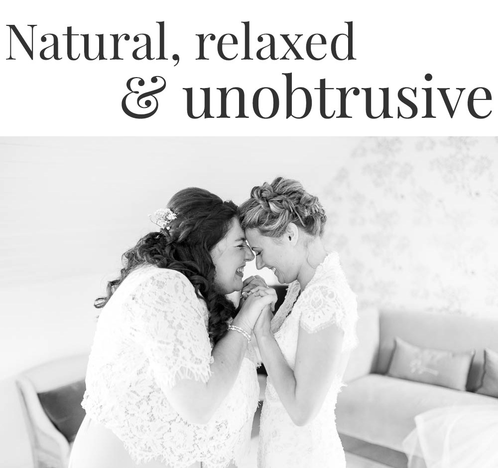 natural, relaxed, photojournalistic wedding photography