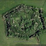 Google Earth image of heavily overgrown Scoveston Fort near Neyland