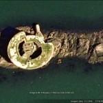 Google Earth image of Stack Rock Fort