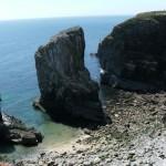 A limestone sea stack
