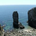 Two limestone sea stacks