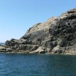 Columnar jointed ancient lava, Ramsay