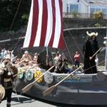 Hubba the viking at Milford Haven carnival 2011