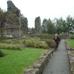 In the monks garden at the ruins of Haverfordwest Priory