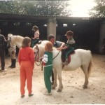 Our children horse riding in the Preseli Mountains