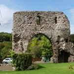 The priory ruins at The Priory Village