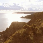 View West from the memorial seat above Lindsway Bay