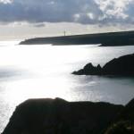 Sea cliffs near Lindsway Bay