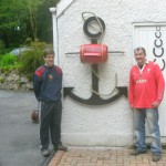 Colin and son with the new mail box