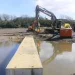 New concrete extension of crabbing bridge