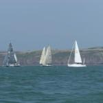 A yacht race off Sandy Haven.