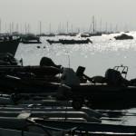 At the pontoon and moorings at Dale