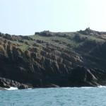 Sea cliffs of southwest Skolkholm.