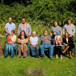 Our family - Anne and I with our four children their partners and spouses and three grandsons