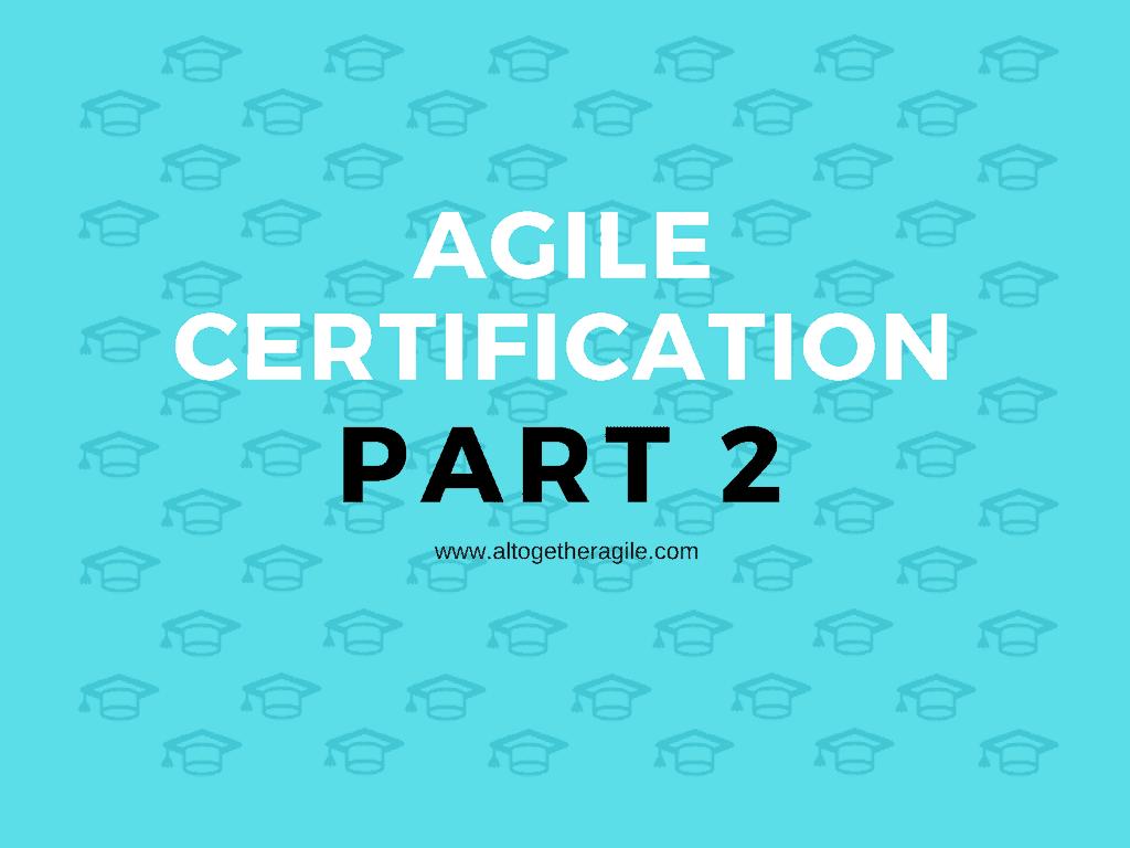 Agile Training Certification -2