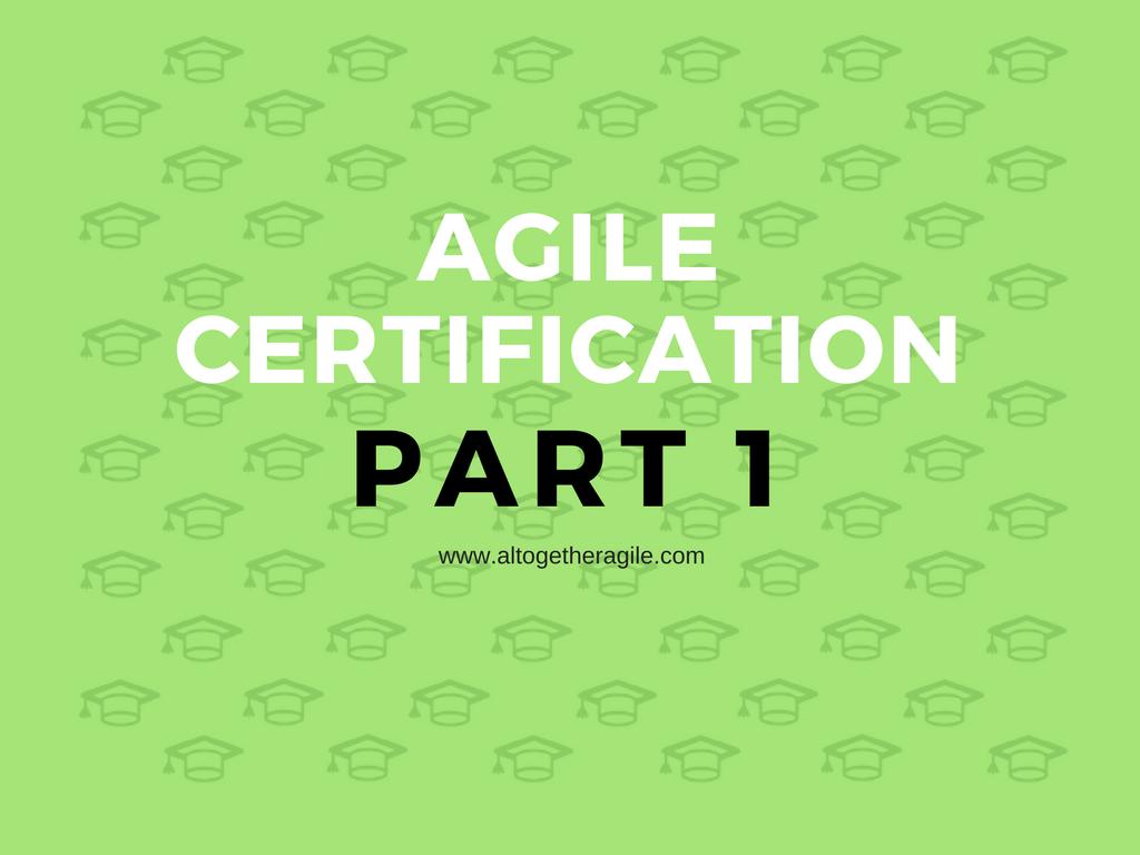 Agile Training Certification – 1