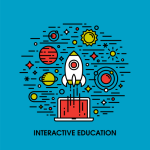 Interactive Education Infographic