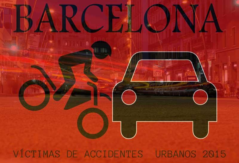 Victimas Tráfico en ciudad de Barcelona, en 2015