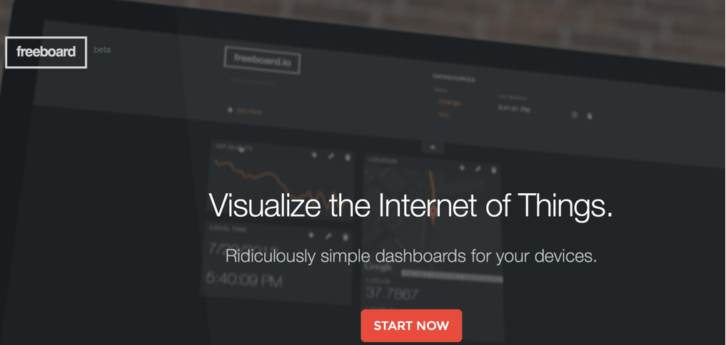 freeboard a web dashboard for the internet of things