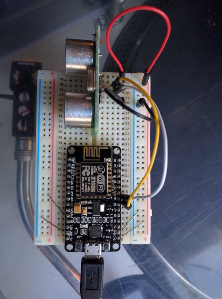 Ultrasonic garage parking assistant with ESP8266 and IBM Watson IoT platform