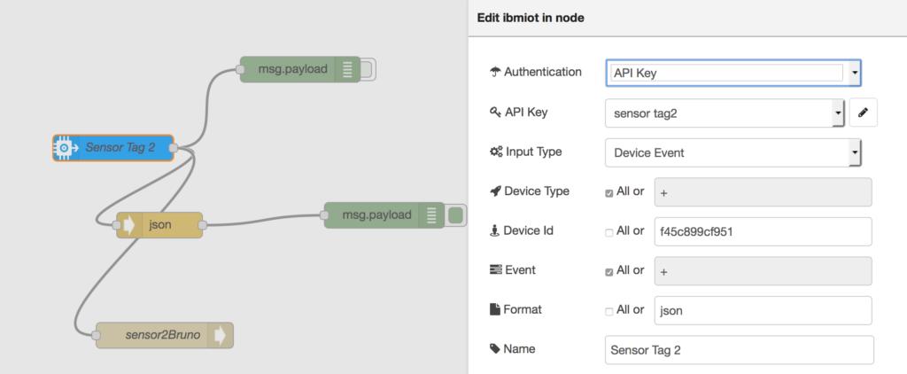 Connect Sensor Tag to Watson IoT platform using a MacBook as gateway