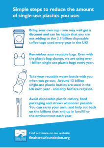 Simple Changes to Reduce Single Use plastic