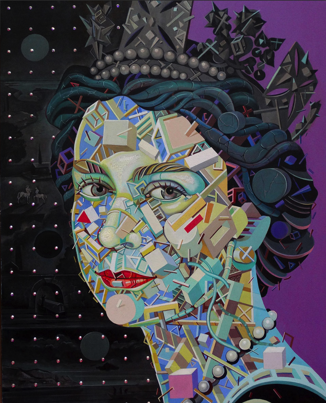 painting Queen Elizabeth II