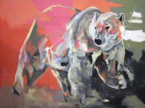 painting artwork polar bear