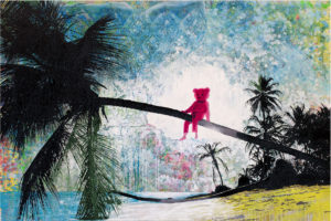 Pink Bear art by Paul Robinson