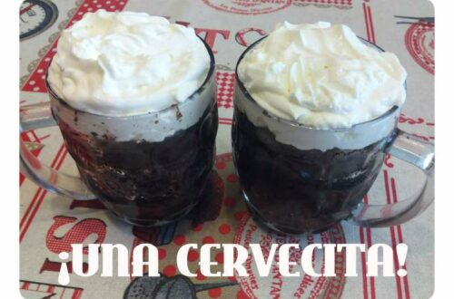 tarta de chocolate Guinness en vaso