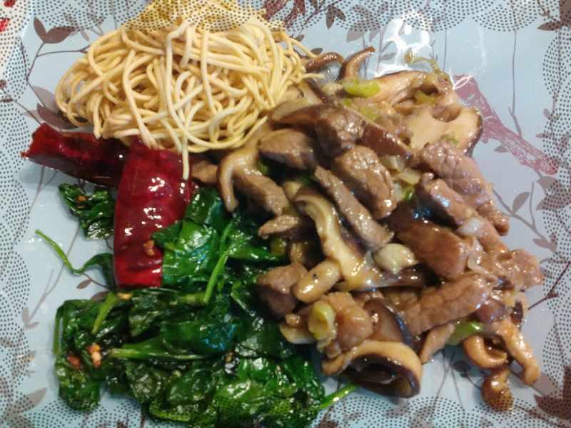 Ternera con salsa de ostras de Ching He Huang