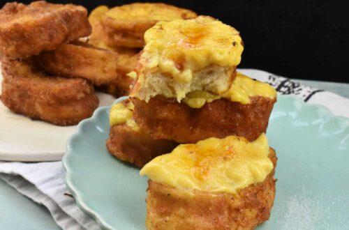 torrijas caseras con crema tostada