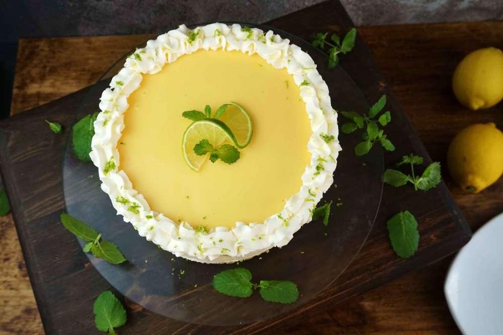 cheesecake de lima limón sin horno