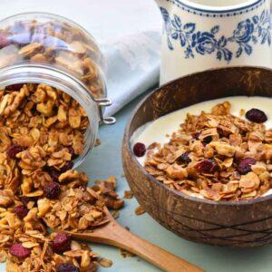 granola casera saludable ideal para el desayuno
