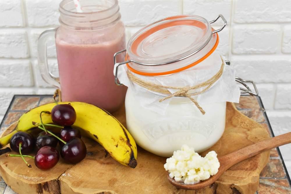 kefir de leche casero saludable
