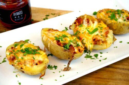patatas rellenas de carne al mojo canario