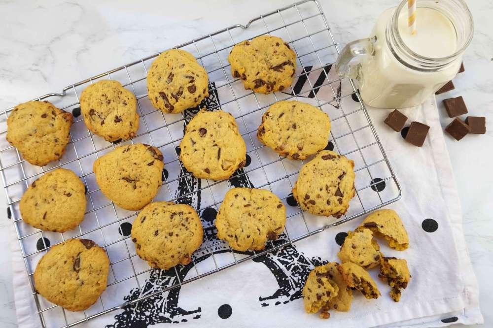 cookies de calabaza con chips de chocolate