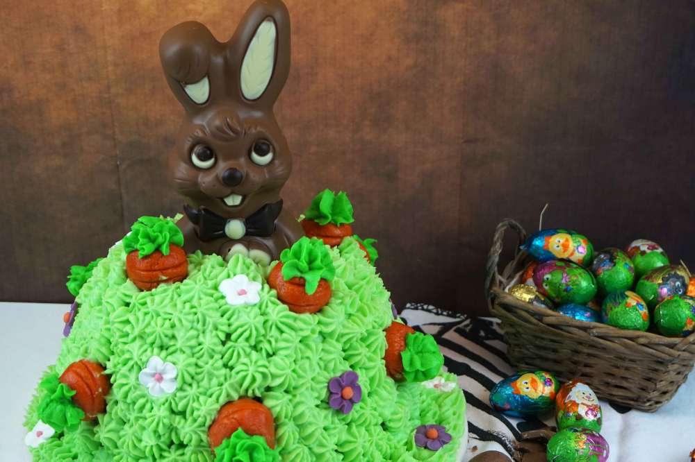 carrot cake conejo de pascua
