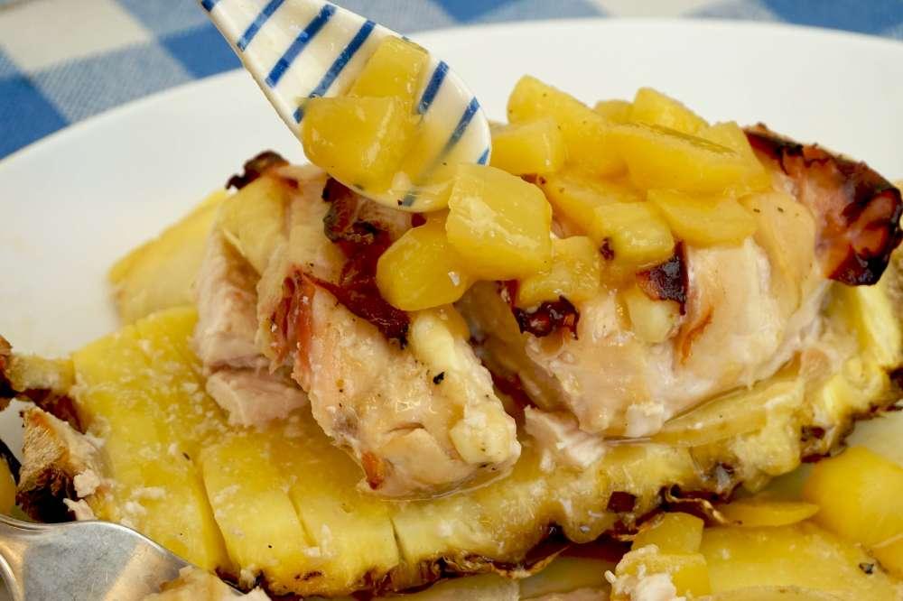 pollo a la piña o pollo a la hawaiana