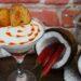 sopa fría de coco con coulis de tomate y chili