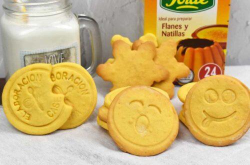 galletas de natillas con sobre de flan