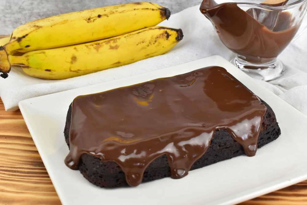pastel choco banana fit sin azúcar y sin harina