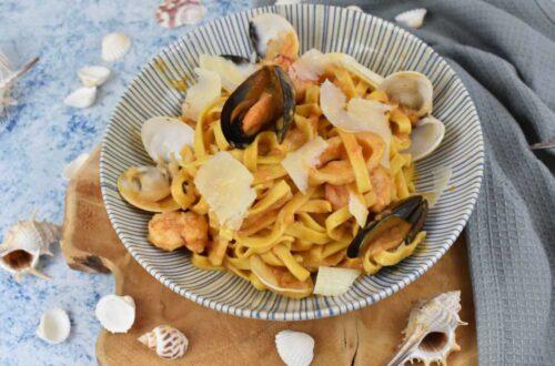 pasta a la marinera o fruti di mare