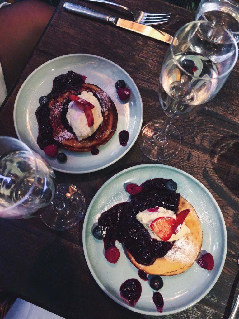 Pancake day - berry pancakes, Rail House Cafe