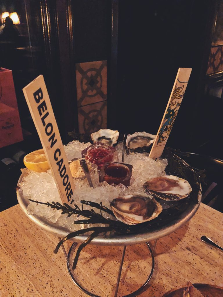 Oysters for dinner
