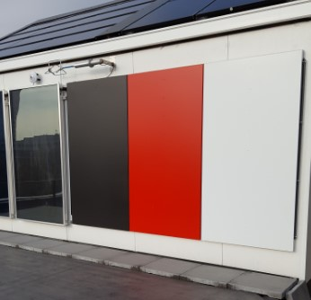 These panels can process infrared radiation.