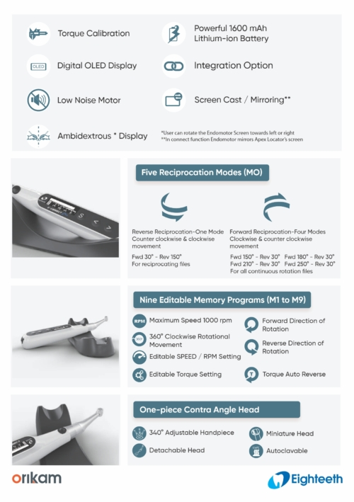 E-connect Pro cordless endomotor