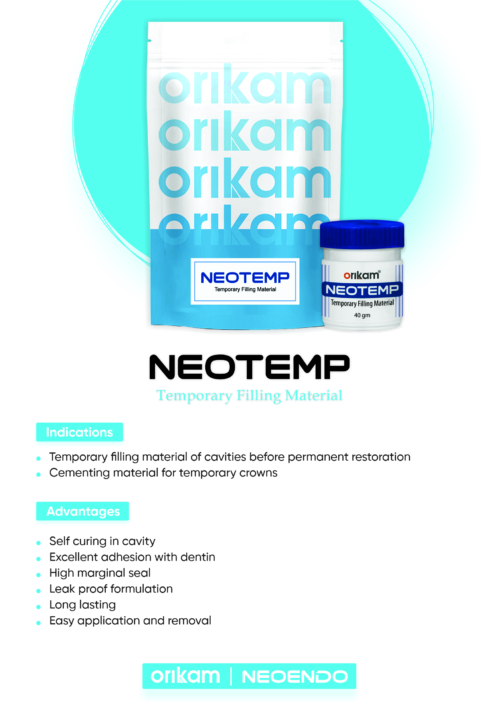 Neotemp- Used for the temporary filling of cavities | Orikam