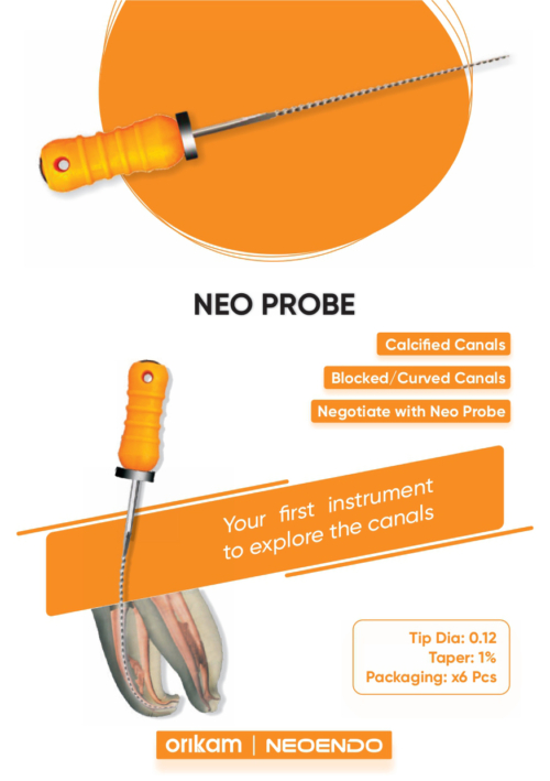Neoprobe | Files Canal Probe File for Calcified Canals | Orikam